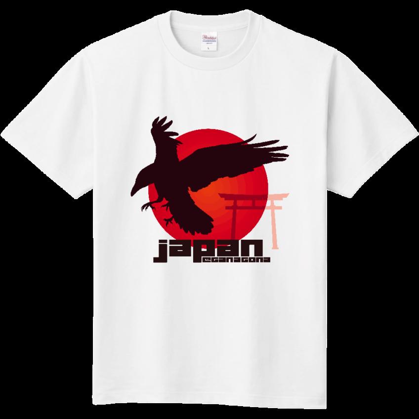 八咫烏 日の丸 鳥居 Tシャツ